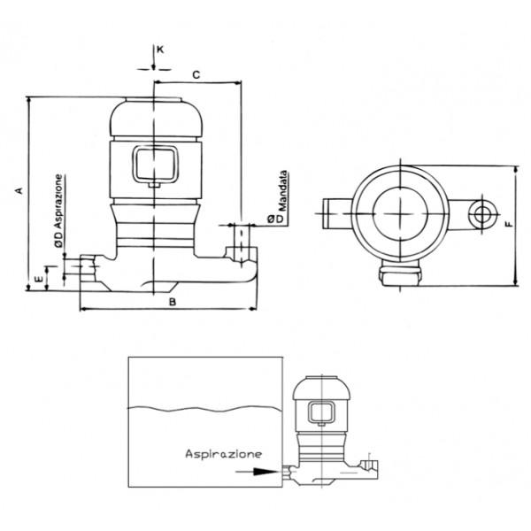ELETTROPOMPA SACEMI TR80B