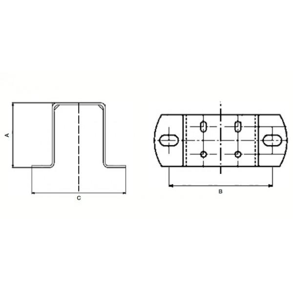 Staffa per Elettroventilatori VL.216, VL.225, VL.234, VL.125L