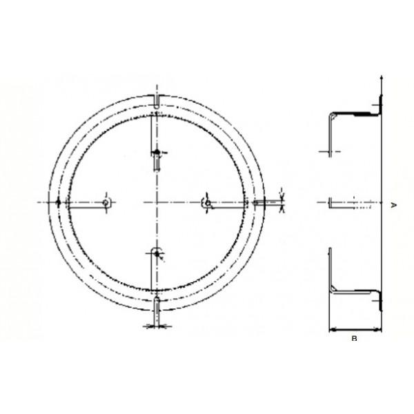 Anello per Elettroventilatori VL.216, VL.225, VL.234, VL.125L