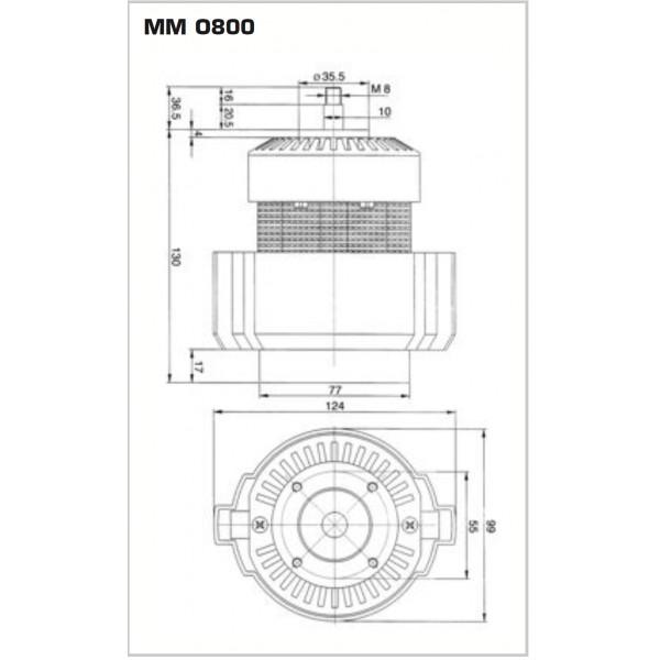 GRINDER MOTOR 800W