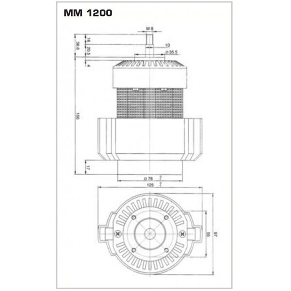 GRINDER MOTOR 1200W