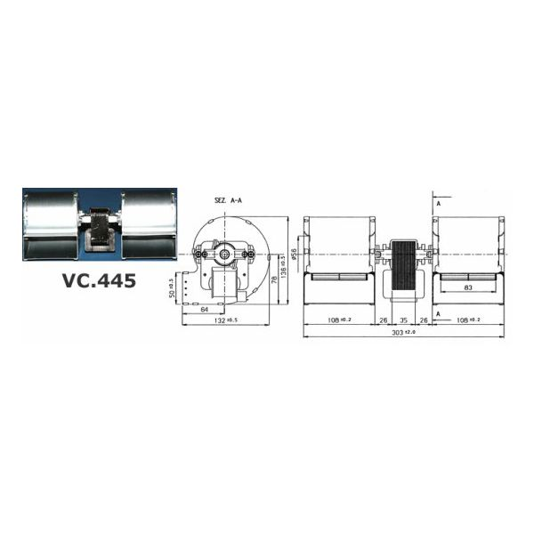 DUAL-SUCTION CENTRIFUGAL FAN 114W 2P