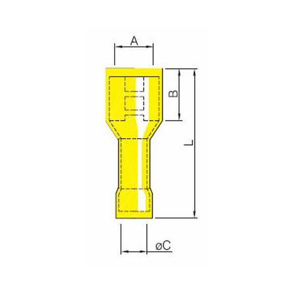 QUICK COUPLING CONNECTOR FEMALE INSULATED