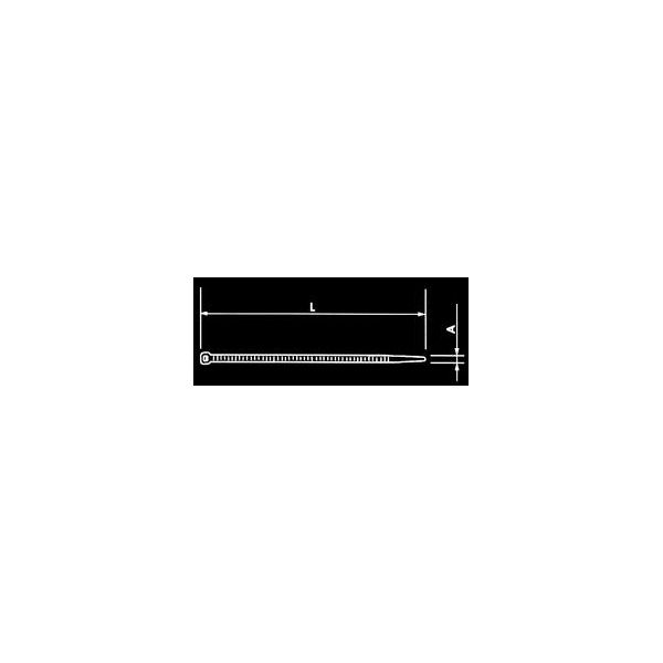 STRAP 4.8X200 PACK 100 PZ