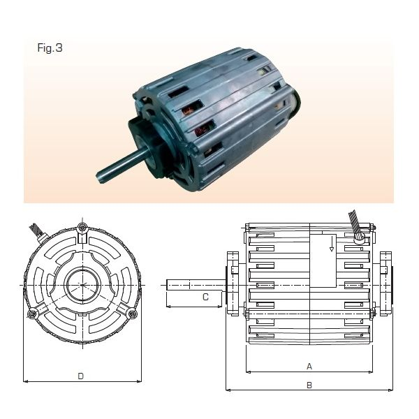 MOTOR 373W FOR NICOTRA BLOWER